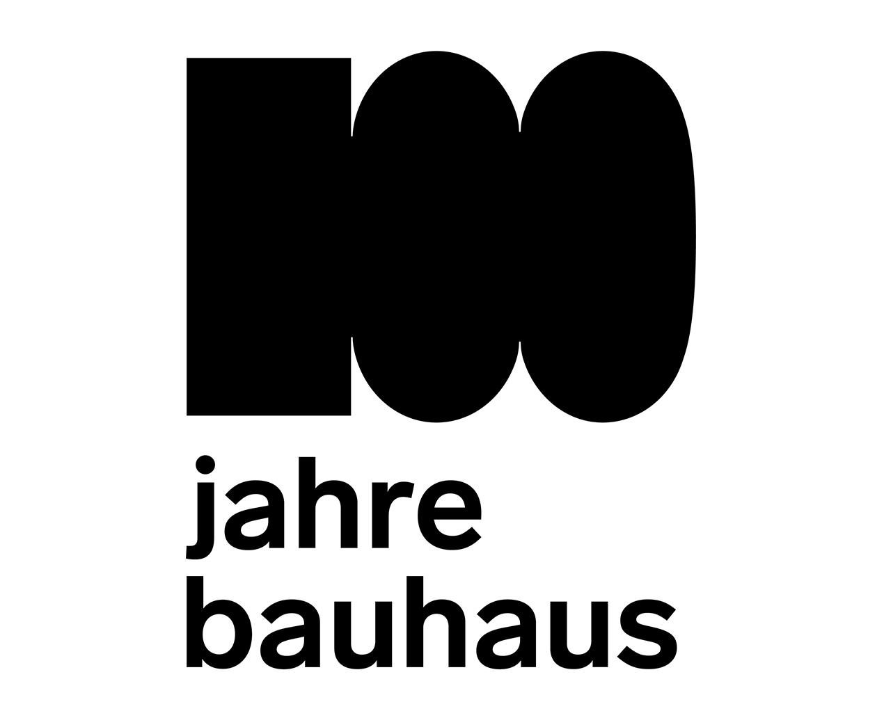 100 Jahre Bauhaus-Logo
